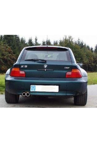 FOX Komplettanlage ab Kat. BMW Z3 u. Z3 Coupe bis 98  2.8l  2 ER 70mm  eingerollt  gerade  mit Absorber  Edelstahl Sportauspuff