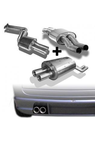 FOX Komplettanlage ab Kat. BMW X3 E83 2.5l  3.0l  2 x 76mm eingerollt