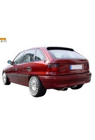 FOX Komplettanlage ab Kat. Opel Astra Fließheck F CC 3-Punkt Aufhängung 1x135x80mm flachoval eingerollt