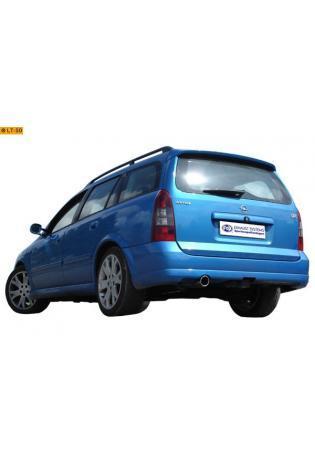 FOX Komplettanlage ab Kat. Opel Astra G-CC OPC ab Bj. 00   2.0l  1 ER  90mm  eingerollt  gerade  mit Absorber  Edelstahl Sportauspuff