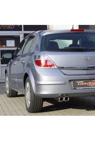 FOX Sportauspuff Opel Astra H u. H GTC ab Bj. 04 1.6l Turbo 2.0l Turbo 2 x 76mm