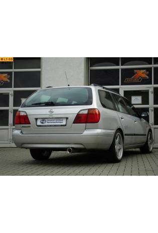 FOX Komplettanlage ab Kat. Nissan Primera P11 Kombi Traveller Bj. 99-02  1.6l  1.8l  2.0l  2.0l TD  1 ER  90mm  eingerollt  gerade  mit Absorber