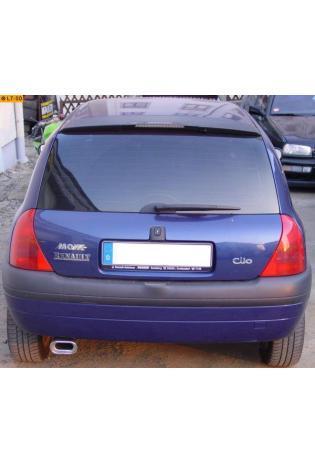 FOX  Komplettanlage ab Kat. Renault Clio 2 Typ B 1.2l  ab Bj. 99 135x80mm flachoval eingerollt abgeschrägt mit Absorber (RohrØ 55mm)