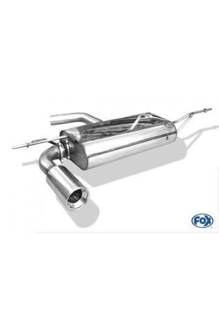 FOX Komplettanlage ab Kat. VW Golf 5 Typ 1K 1.4l  1.6l  2.0l FSI  1.9l TDI  2.0l SDI  2.0l TDI - 90mm eingerollt gerade mit Absorber  Edelstahl Sportauspuff
