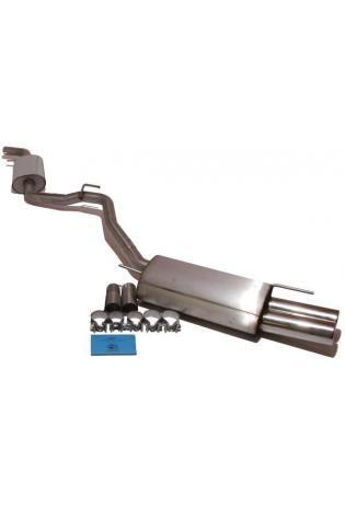 FOX Komplettanlage ab Kat. VW Bus T4  1.9l  2.0l  2.5l  2.8l  1.9l D 1.9l TD 2.4l D 2.5l TDI  2 ER  80mm  eingerollt  gerade  mit Absorber  (RohrØ 60mm)