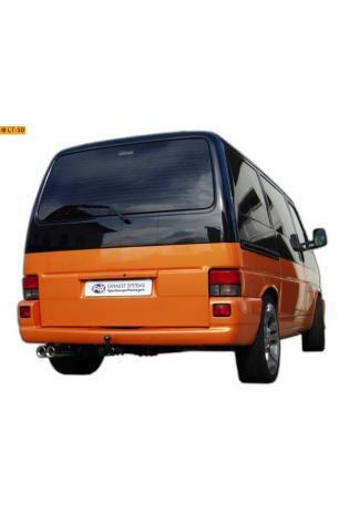 FOX Komplettanlage ab Kat. VW Bus Kasten Pritsche T4 Syncro  ab Bj. 1990  2x80mm Absorber