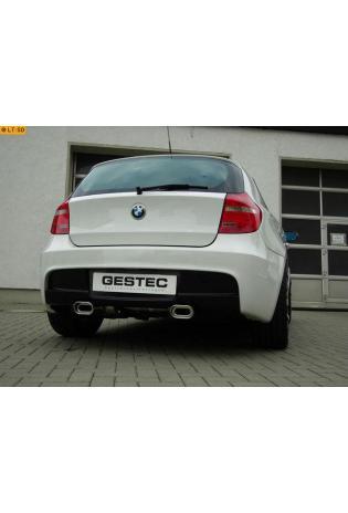 GESTEC Sportauspuff Endschalldämpfer 135x80 mm flachoval rechts-links BMW 1er 116i 118i 120i  Limousine M-Optik ab Baujahr 2007-