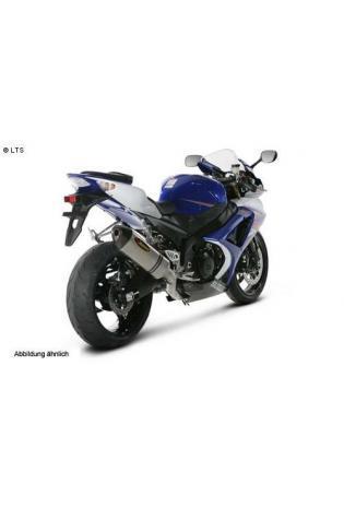 Akrapovic Sportauspuffanlage der Evolution-Linie Typ Evo-2 inkl. elliptischen Schalldämpfer mit Titan Außenhülle u. Lambda SUZUKI GSX R 1000 - Bj.03-04