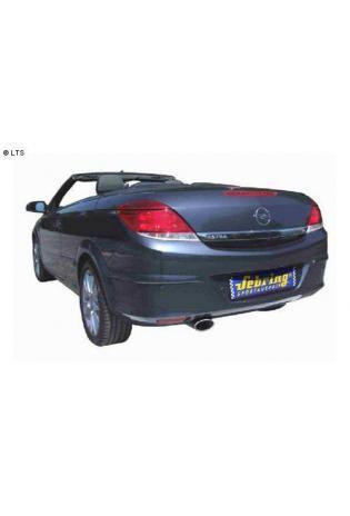 SEBRING Edelstahl Hauptschalldämpfer Opel Astra H Twin Top ab Bj. 06 1.6l  1.8l