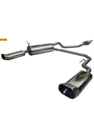 FOX Komplettanlage ab Kat. Renault Megane I Typ DA Coach ab Bj. 95 1.4l  1.6l  2.0l  1.9l TDI re/li je 135x 80mm eingerollt DTM-Look mit Absorber