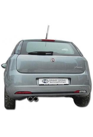 FOX Sportauspuff Fiat Grande Punto 199 1.2l 1.4l 2 x 76mm eingerollt gerade