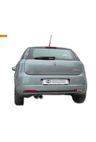Fiat Grande Punto 199 1.3l D  1.9l D ab Bj. 05 FOX Sportauspuff 2 x 76mm eingerollt gerade ohne Absorber (RohrØ 45mm)
