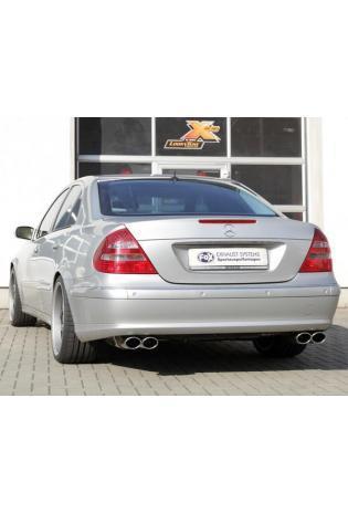 FOX Duplex Sportauspuff Mercedes E-Klasse W211 E 200 bis E 500 und E 270 CDI bis E 400 CDI je 2x106x71mm