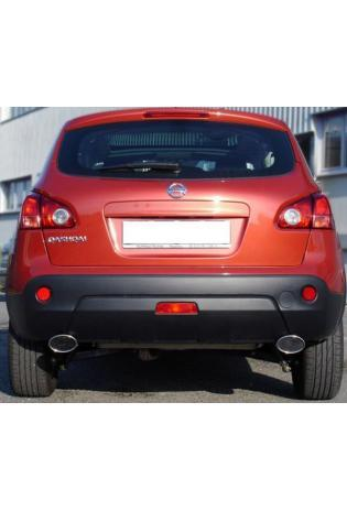 FOX Sportauspuff Nissan Qashqai Diesel rechts links je 115x85mm oval (RohrØ 50mm)
