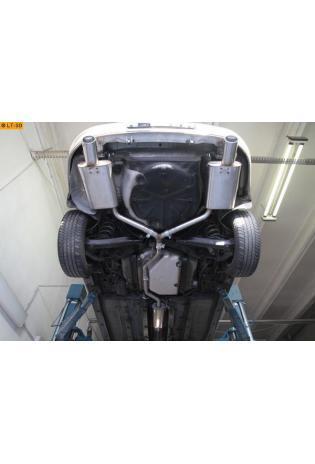 Opel Vectra C inkl. GTS 1.6l  1.8l FOX Komplettanlage ab Kat.  rechts links je 90mm eingerollt abgeschrägt mit Absorber (RohrØ 63.5mm - 2 x 50mm)