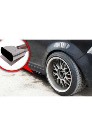 VW Bora 1J inkl. Variant 1.4l  1.6l  1.8l  2.0l  2.3l  1.9l SDI  1.9l TDI ab Bj. 97  FOX Komplettanlage ab Kat. 130x50mm flachoval uneingerollt abgeschrägt ohne Absorber SidePipe (RohrØ 55mm)