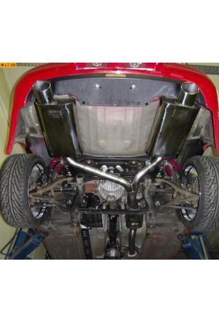 GESTEC Sportauspuff Endschalldämpfer rechts-links Honda S2000 2,0l 240PS 1 x rund 90 mm eingerollt (bis Bj. 12/03)