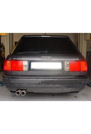 Audi 100 - S4 - A6 u. S6 Quattro 2.2l 4.2l FOX Racing Komplettanlage 2 ER 70mm eingerollt abgeschrägt ohne Absorber (RohrØ 2x60mm)