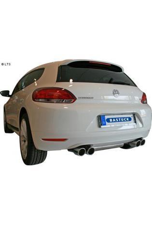 BASTUCK Racing Komplettanlage ab Kat. VW Scirocco 3 Typ 13 Turbo 1.4l  2.0l und VW Golf 6 Typ 1K ab Bj. 08 2.0l GTI rechts links je 2 x 90mm mit Lippe schräg (AnschlussØ 70mm)