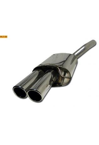 Skoda Octavia 2 Typ 1Z inkl. Kombi und VW Jetta 5 Typ 1 KM 1.4l  1.6l  2.0l  1.9l TDI  2.0l TDI (außer Turbo) BASTUCK Sportauspuff 2 x 76mm eingerollt schräg geschnitten (AnschlussØ 63mm)