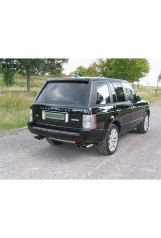 Range Rover Supercharged 4.2l EISENMANN Duplex Sportauspuff Endschalldämpfer Edelstahl rechts links je 2 x 120x77mm