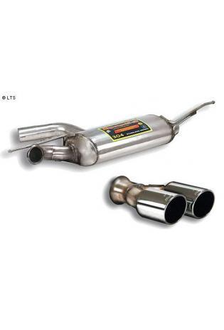 Supersprint Sportauspuffanlage ab Kat inkl. Mittelschalldämpfer und Endschalldämpfer 2x 90mm Flachoval - Audi TT 1.8 2.0 TFSI ab 07