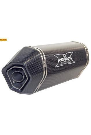 Remus Schalldämpfer Typ HexaCone mit Carbon Außenhülle slip on Anschluß 45mm YAMAHA YZF- R6 - ab Bj.08