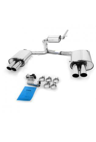 Audi A4 Typ B6 u. B7 Limousine Avant u. Cabrio Bj. 00-08 1.6l  1.8l  2.0l  u. Diesel (Frontantrieb)  BASTUCK Komplettanlage ab Kat. rechts links je 2 x 76mm  (AnschlussØ 63mm)