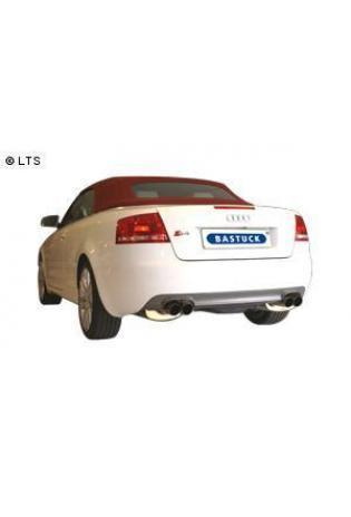 Audi A4 Typ B6 u. B7 Limousine Avant u. Cabrio Bj. 00-08 1.6l  2.0l  u. Diesel (Frontantrieb)  BASTUCK Duplex Sportauspuff rechts links je 2 x 76mm  (AnschlussØ 63mm)