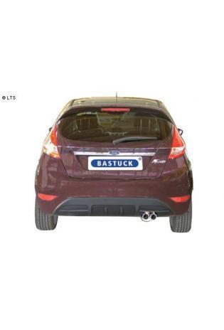 Ford Fiesta Typ JA8 ab Bj. 08 1.4l  1.6l  BASTUCK Komplettanlage ab Kat. 2 x 70mm eingerollt (AnschlussØ 63mm)