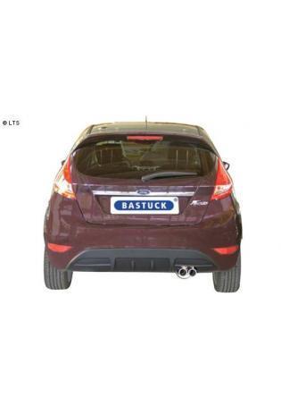 Ford Fiesta Typ JA8 ab Bj. 08 1.4l  1.6l  BASTUCK Racing Komplettanlage ab Kat. 2 x 70mm eingerollt (AnschlussØ 63mm)