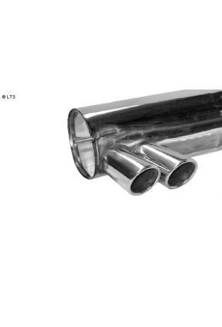 BMW 1er E82 Coupe u. E88 Cabrio ab Bj. 07 118i  120i  125i  135i  BASTUCK Sportauspuff 2 x 76mm eingerollt schräg (AnschlussØ 70mm)