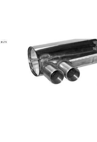 BASTUCK Sportauspuff li 2x85mm Race Look (AnschlussØ 70mm) BMW 1er E82 Coupe 118i 120i 125i 135i (mit M-Heckstoßstange)