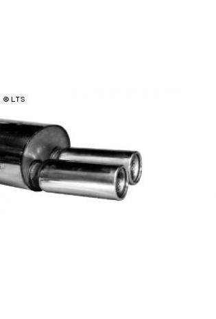 BMW 3er E36 318is  BASTUCK Sportauspuff 2 x 90mm mit Einsatz (AnschlussØ 63mm)
