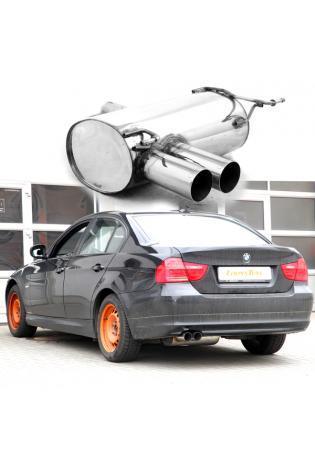 BMW 3er E90 Limousine  E91 Touring  320d (Fzge. mit N47D20A-Motor)  BASTUCK Komplettanlage ab Kat. 2 x 76mm (AnschlussØ 63mm)