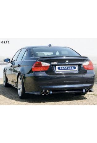 BMW 3er E90 Limousine  E91 Touring 325i  330i ab Bj. 07  BASTUCK Racing Komplettanlage ab Kat. rechts links je 2 x 76mm eingerollt schräg geschnitten (AnschlussØ 63mm)