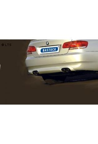 BMW 3er E93 Cabrio  335i  335d  BASTUCK Duplex Sportauspuff  rechts links je 2 x 76mm eingerollt schräg (AnschlussØ 63mm)