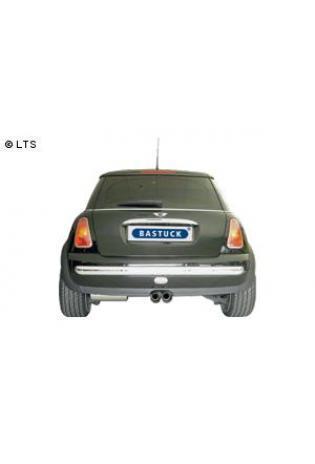 BMW Mini R50 1.4l Diesel u. 1.6l Cooper S  BASTUCK Sportauspuff 2 x 76mm Ausgang mittig (AnschlussØ 63mm)