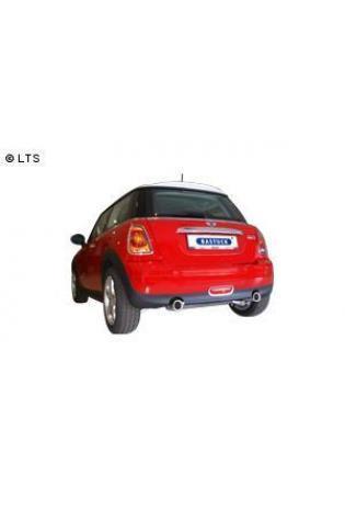 BASTUCK Sportauspuff  BMW Mini R56 One u. Cooper 1.4l  1.6l inkl. Facelift  rechts links je 90mm mit Einsatz (RohrØ 63mm)