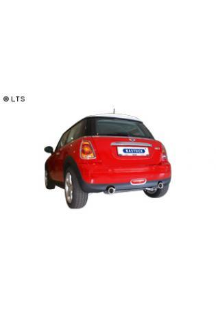 BASTUCK Racing Komplettanlage ab Kat. BMW Mini R56 One u. Cooper 1.4l  1.6l inkl. Facelift  rechts links je 90mm mit Einsatz (RohrØ 63mm)