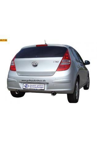 FOX Edelstahl Endrohrsatz Hyundai i30 ab Bj. 07 2.0l rechts links je 90mm eingerollt abgeschrägt mit Absorber (RohrØ 50mm)