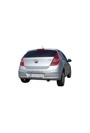 Hyundai i30 ab Bj. 07 2.0l FOX Sportauspuff rechts links je 90mm eingerollt abgeschrägt mit Absorber (RohrØ 50mm)