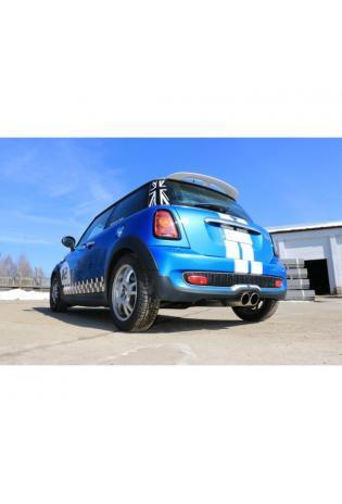 FOX Sportauspuff Mini Cooper S R56 ab Bj. 06 1.6l mittig 2 x 100mm eingerollt