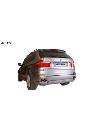 BMW X5 E70 3.0l 3.0l Diesel BASTUCK Duplex Sportauspuff inkl. Zubehör rechts links je 2 x 76mm eingerollt SLASH (AnschlussØ 63mm)