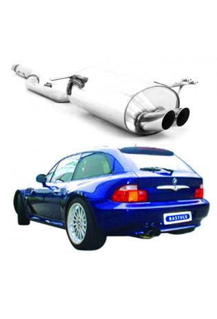 BMW Z3 Roadster 1.9l ab Bj. 98  BASTUCK Komplettanlage ab Kat. 2 x 70mm (AnschlussØ 63mm)
