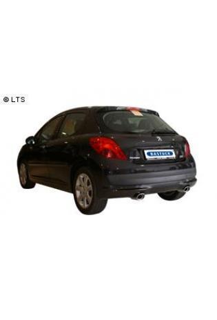 Peugeot 207 1.4l  1.6l  1.4l Diesel  1.6l HDI  BASTUCK Komplettanlage ab Kat. rechts links je 120x80mm oval mit Einsatz (AnschlussØ 63mm)