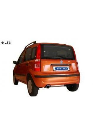 BASTUCK Sportauspuff inkl. Zubehör Fiat Panda ab Bj. 03 1.1l  1.2l  1.4l  1.3l Diesel - 1 x 90mm (RohrØ 63mm)