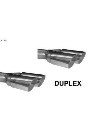 Ford Cougar 2.0l  2.5l  BASTUCK Duplex Sportauspuff (inkl. Mittelschalldämpfer) rechts links je 2 x 76mm (AnschlussØ 63mm)