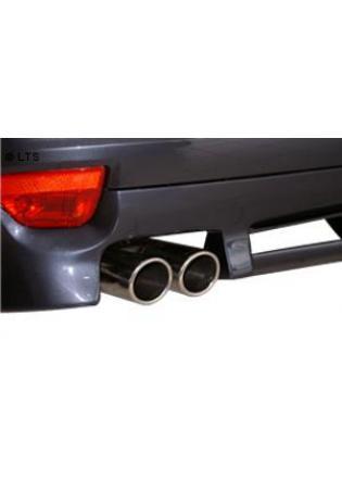 Ford Focus 2 Schrägheck u. Fließheck und Ford C-Max Dieselmodelle mit Rußpartikelfilter  BASTUCK Racing Komplettanlage ab Kat. 2 x 76mm eingerollt schräg (AnschlussØ 63mm)