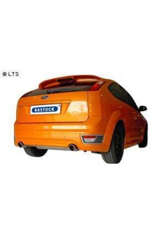 Ford Focus 2 ST 2.5l  BASTUCK Komplettanlage inkl. Sport-Kat. rechts links je 90mm schräg mit Einsatz (AnschlussØ 70mm)